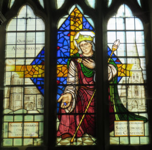 Stained glass window in Romford, England